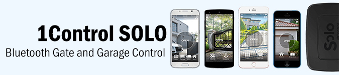 1Control SOLO Bluetooth Gate and Garage Control