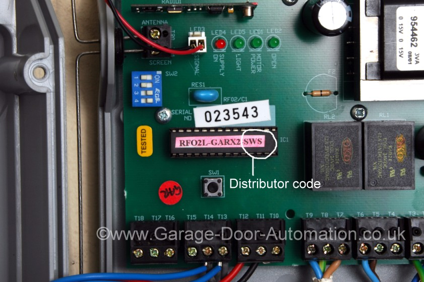 seceuroglide remote control transmitters